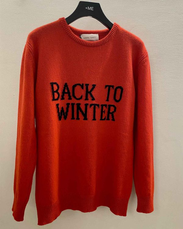 Maglione Over Back to Winter Rosso