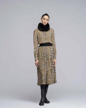 Chemisier con stampa leopardata