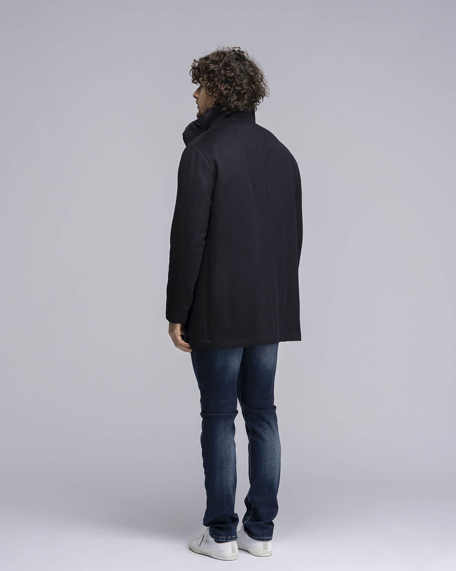 Cappotto in lana navy blu