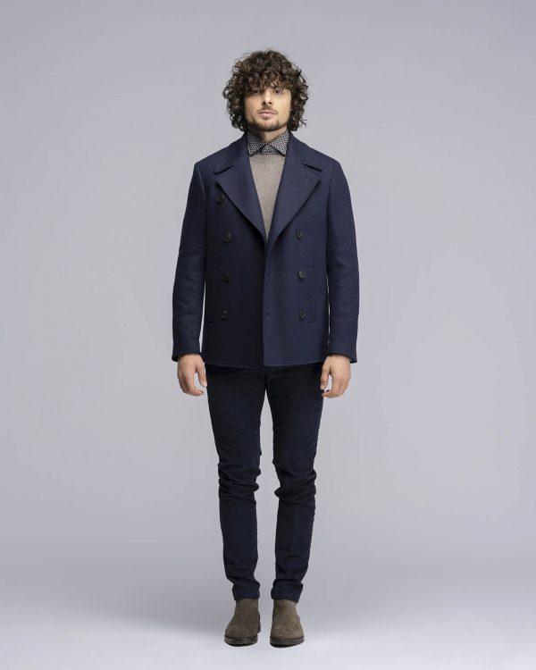 Cappotto Doppiopetto blu